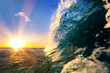 canvas print picture Ocean wave sea tropical background