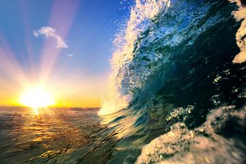 Ocean fala morze tropikalny tło