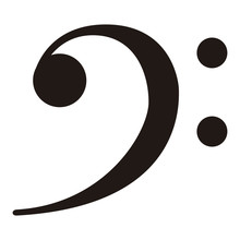 Isolated F-clef Musical Note