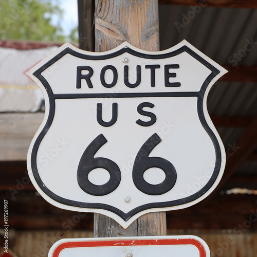 Foto op Canvas Route 66 Historic Route 66 Signpost in Hackberry. Arizona. USA