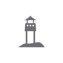 Beach Rescue Tower Icon. Simpl...
