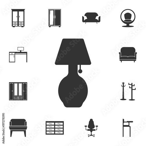Exceptional Table Lamp Icon. Detailed Set Of Furniture Icons. Premium Quality Graphic  Design. One