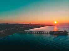 Beautiful Sunrise On The Pier