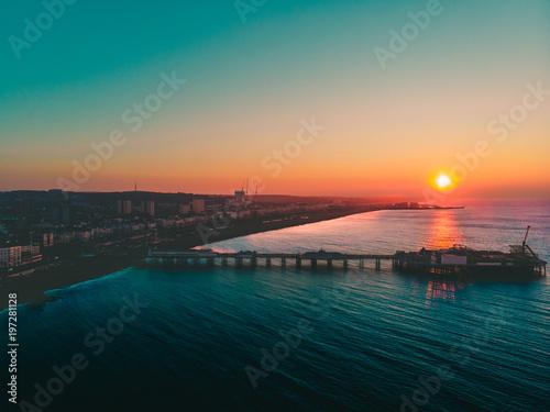 beautiful sunrise on the pier Canvas-taulu