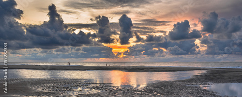 Wall Murals Northern Europe Sunset View over North Sea