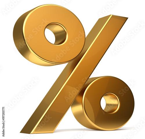 Cuadros en Lienzo  percentage symbol 3d rendering