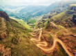 canvas print picture - Sani Pass down into South Africa