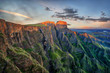 canvas print picture - Drakensberg Amphitheatre in South Africa