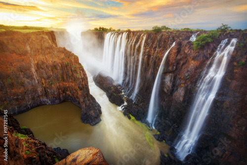 Photo sur Toile Marron chocolat Victoria Falls in Zambia and Zimbabwe