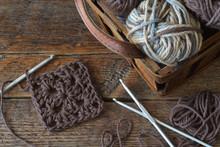 Crochet Granny Square Close Up