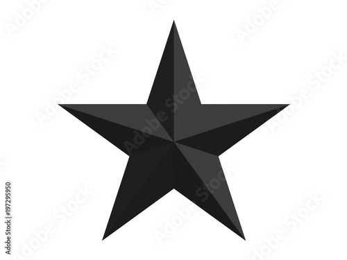 faceted star with 10 sides isolated on a white background 3d rendering Canvas-taulu