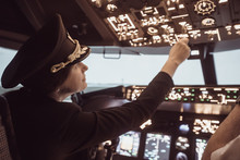 Female Pilot The Captain Of Th...
