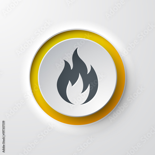 icône flamme Wallpaper Mural