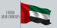 United Arab Emirates Waving Fl...