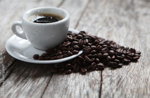 Foto op Canvas Koffiebonen grains de café arabica
