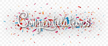 Congratulations Banner , Isolated On Transparent Background