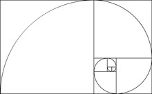 Golden Ratio Template. Composition Spiral Guideline Illustration