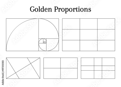 Slika na platnu Composition proportion help guidelines set for arrangement adjusting