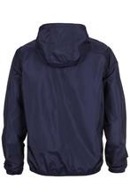 Warm Navy Blue Windbreaker Jacket With Hood
