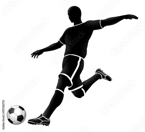 Photo  soccer silhouette bw 2018 A3-02 [Converted]