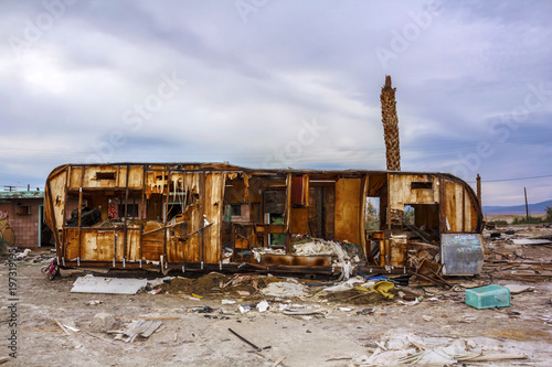 Valokuva  American town in ruins