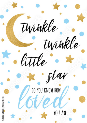 twinkle-twinkle-little-star-tekst-ze-zlotym-oranmentem-i-niebieska-gwiazda-dla