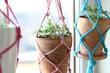 Leinwandbild Motiv Wiszące kwietniki DIY