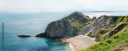 Stampa su Tela Man of War Bay encloses Man O'War Cove on the Dorset coast