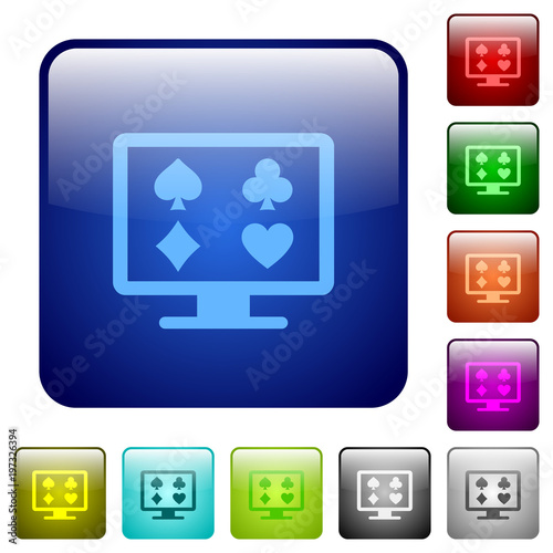 фотография  Online gambling color square buttons