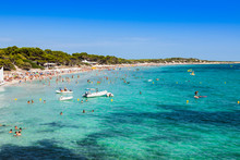 Ibiza Island,beach Ses Salines...