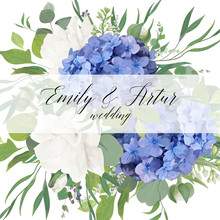 Wedding Floral Invite, Save Th...