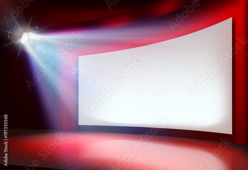 Photo Big projection screen. Vector illustration.