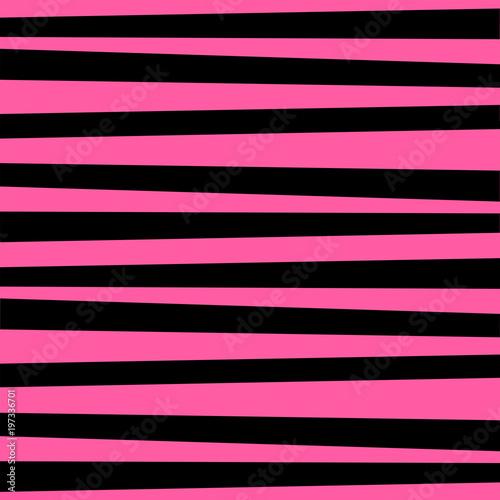 Materiał do szycia Różowo czarne poziome paski tle