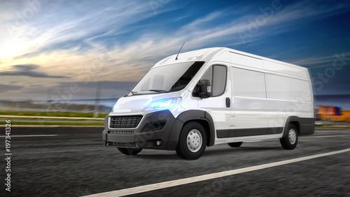 Fotografía  Delivery Van on the Road