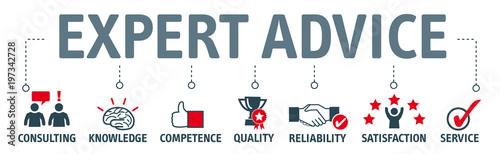 Fotomural Banner expert advice concept