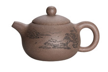 Chinese Clay Teapot Isolated O...