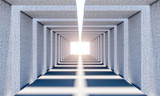 Fototapeta Perspektywa 3d - abstract concrete tunnel