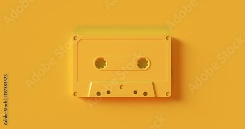 Fotografie, Obraz  Yellow  Cassette Tape 3d illustration
