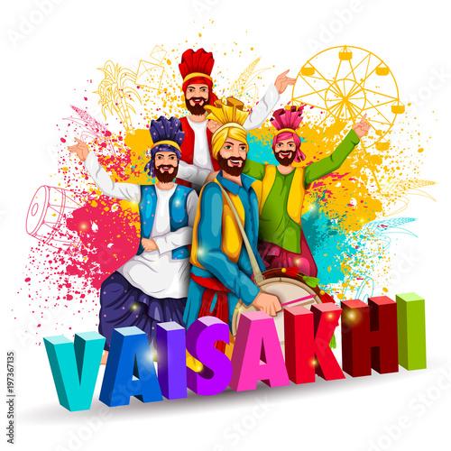 Fényképezés  Celebration of Punjabi festival Vaisakhi background