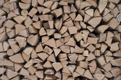 Foto op Canvas Brandhout textuur firewood texture abstract