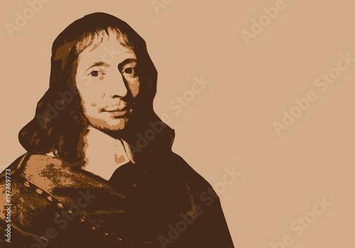 Obraz na plátně Blaise Pascal - portrait - inventeur - philosophe -mathématicien - physicien - p
