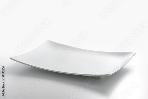Empty white rectangular plate