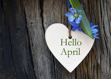 Hello April Greeting Card With...