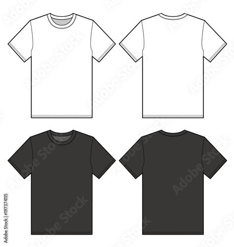 Fotografía  TEE Shirt top fashion flat technical drawing template