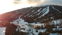 Ski Town At Sunset