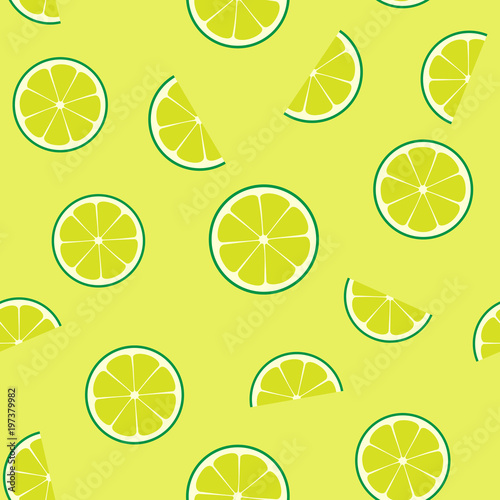 Limeade Lime Seamless Vector Pattern Tile Green Lime Round And Half