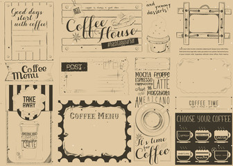 FototapetaCoffee Menu Craft Placemat