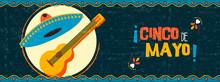 Happy Cinco De Mayo Mexican Mariachi Web Banner