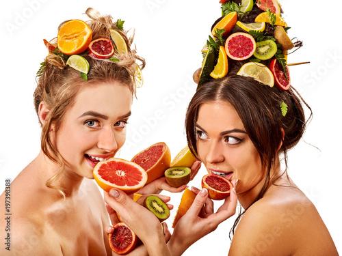 Exotic fruit lesbians