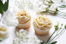 Cupcakes And Flowers